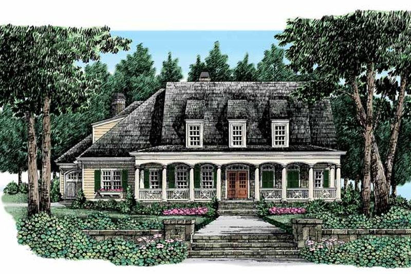 Country Exterior - Front Elevation Plan #927-329