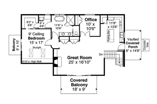 Home Plan - Cottage Floor Plan - Main Floor Plan #124-1204