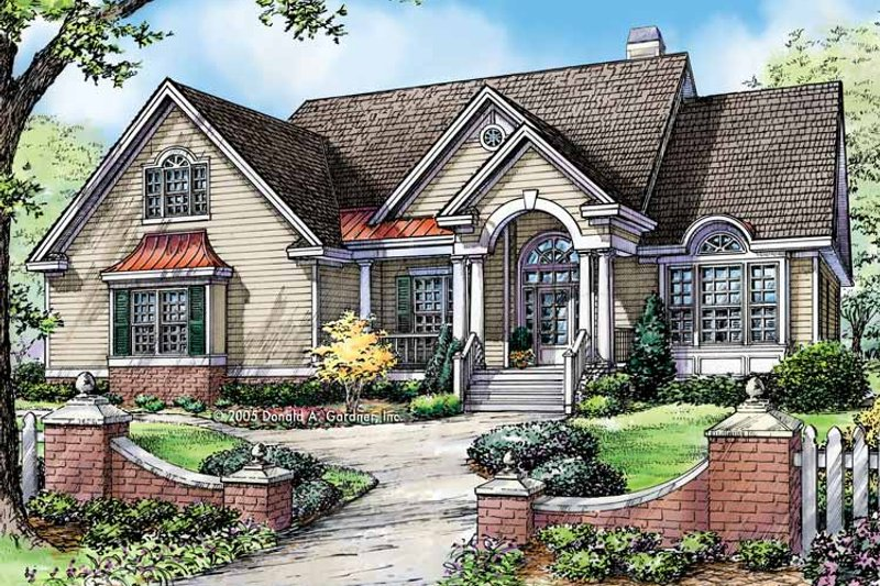 Traditional Exterior - Front Elevation Plan #929-779 - Houseplans.com