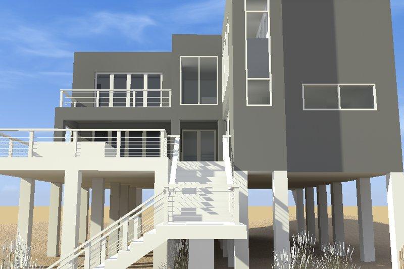 Modern Exterior - Front Elevation Plan #64-189 - Houseplans.com