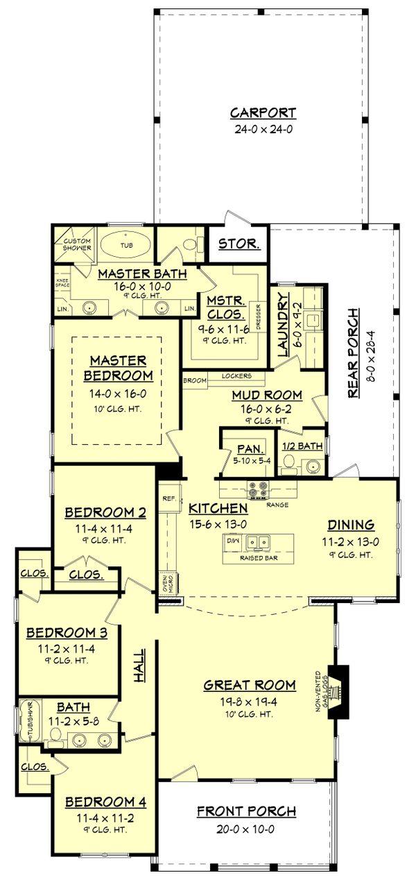 Dream House Plan - Traditional Floor Plan - Main Floor Plan #430-146