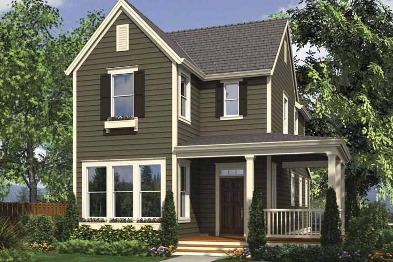 Home Plan - Country Exterior - Front Elevation Plan #48-866