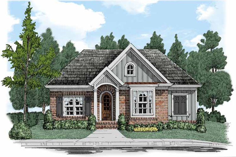 Bungalow Exterior - Front Elevation Plan #927-516