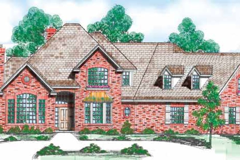 Dream House Plan - Traditional Exterior - Front Elevation Plan #52-267