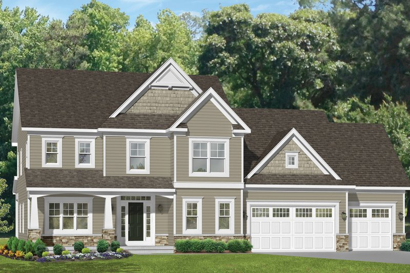 Traditional Exterior - Front Elevation Plan #1010-128 - Houseplans.com