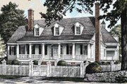 Southern Style House Plan - 4 Beds 3 Baths 3201 Sq/Ft Plan #137-234 Exterior - Front Elevation