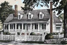 Architectural House Design - Southern Exterior - Front Elevation Plan #137-234
