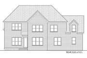 Tudor Style House Plan - 5 Beds 4 Baths 3752 Sq/Ft Plan #413-889 Exterior - Rear Elevation