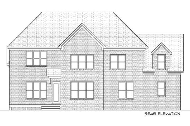 Tudor Exterior - Rear Elevation Plan #413-889 - Houseplans.com