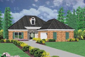 Traditional Exterior - Front Elevation Plan #36-190
