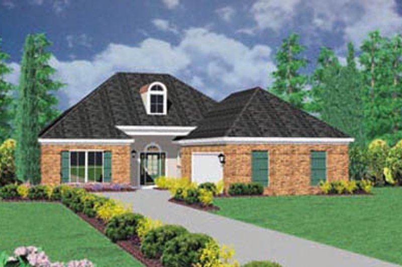 Traditional Exterior - Front Elevation Plan #36-190 - Houseplans.com