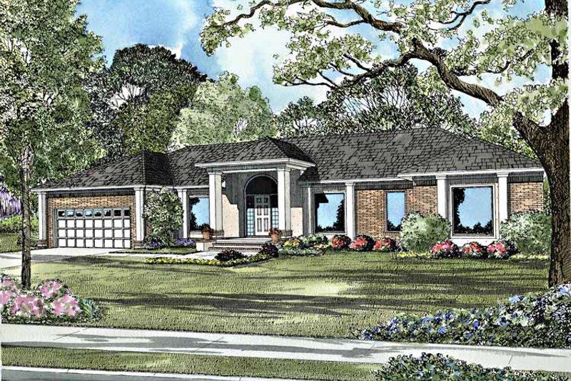 House Plan Design - Contemporary Exterior - Front Elevation Plan #17-3120