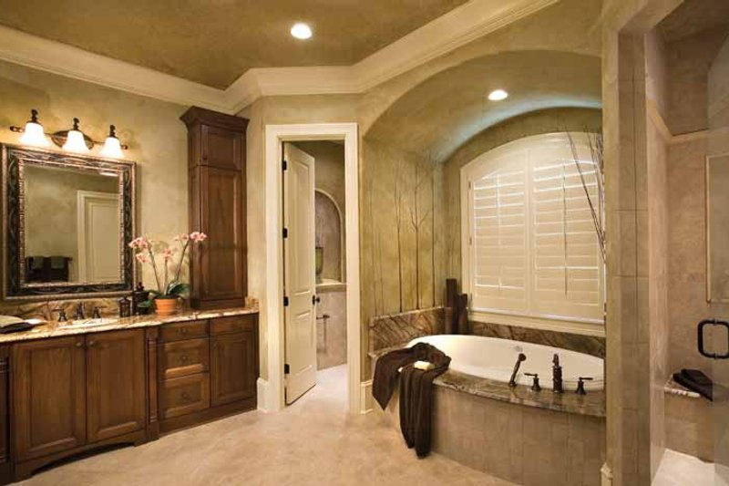 European Interior - Master Bathroom Plan #453-606 - Houseplans.com