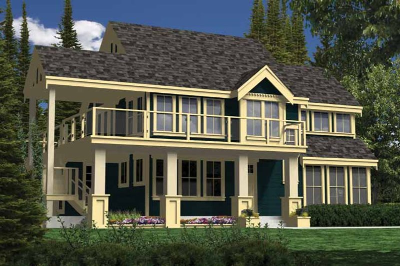 Country Exterior - Front Elevation Plan #118-152