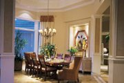 Mediterranean Style House Plan - 3 Beds 4.5 Baths 5220 Sq/Ft Plan #930-194 Interior - Dining Room