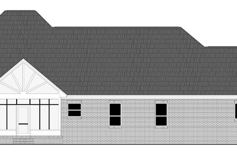 Country Exterior - Rear Elevation Plan #21-433 - Houseplans.com