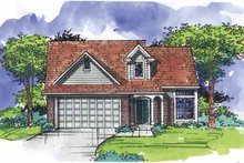 Bungalow Exterior - Front Elevation Plan #320-923