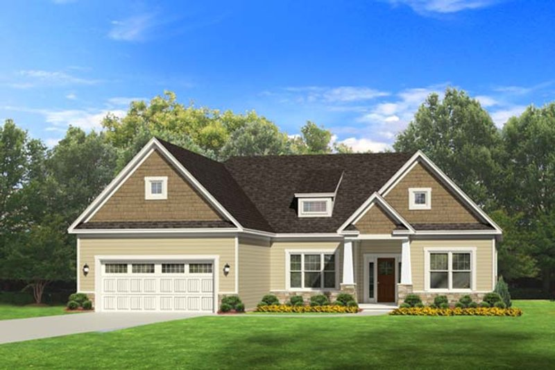 Ranch Exterior - Front Elevation Plan #1010-74