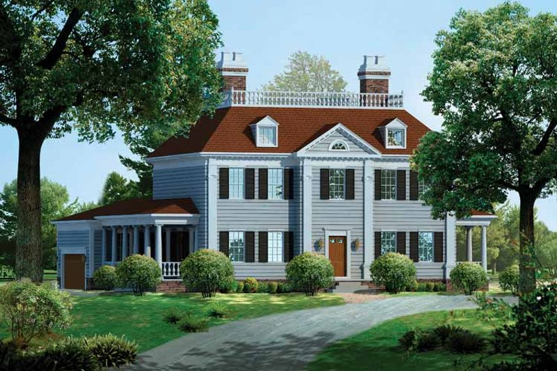 Dream House Plan - Classical Exterior - Front Elevation Plan #72-814