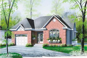 European Exterior - Front Elevation Plan #23-1006