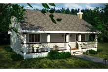 House Plan Design - Country Exterior - Front Elevation Plan #18-1027
