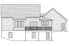 Farmhouse Exterior - Rear Elevation Plan #46-886