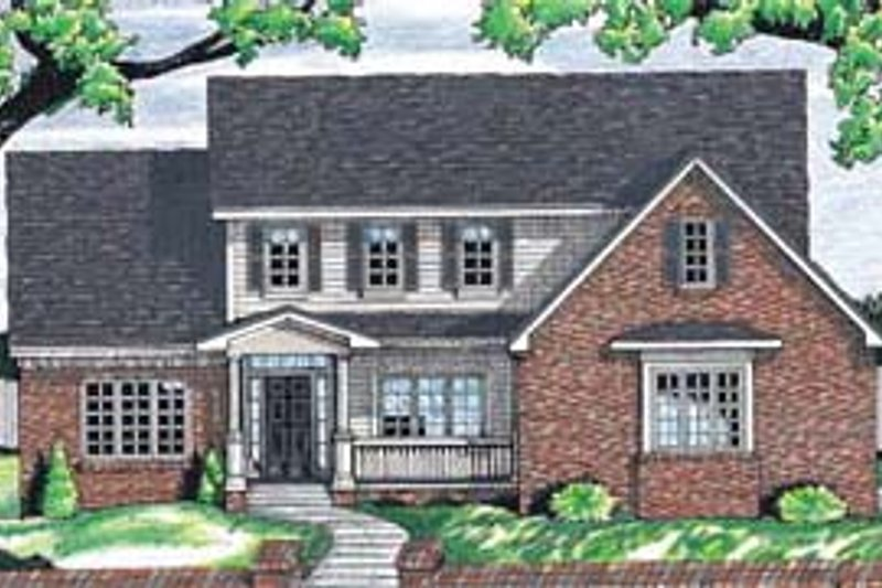Architectural House Design - Traditional Exterior - Front Elevation Plan #20-263