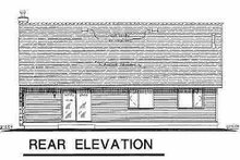 Cottage Exterior - Rear Elevation Plan #18-1034
