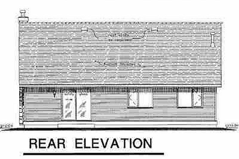 Cottage Exterior - Rear Elevation Plan #18-1034 - Houseplans.com