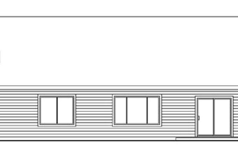 Traditional Exterior - Rear Elevation Plan #124-738 - Houseplans.com