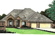 European Style House Plan - 4 Beds 2.5 Baths 2333 Sq/Ft Plan #310-815 Exterior - Front Elevation