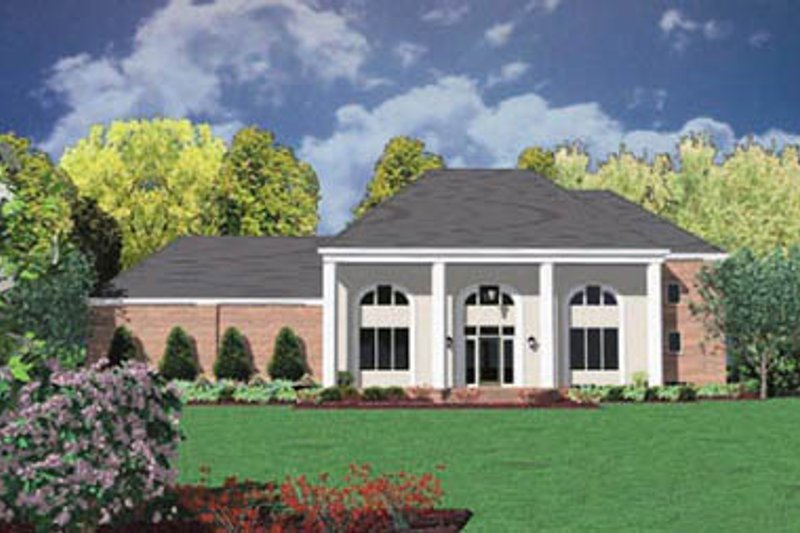 Colonial Exterior - Front Elevation Plan #36-227 - Houseplans.com