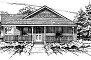 Ranch Style House Plan - 3 Beds 1 Baths 1277 Sq/Ft Plan #50-232 Exterior - Front Elevation