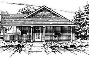 Ranch Exterior - Front Elevation Plan #50-232