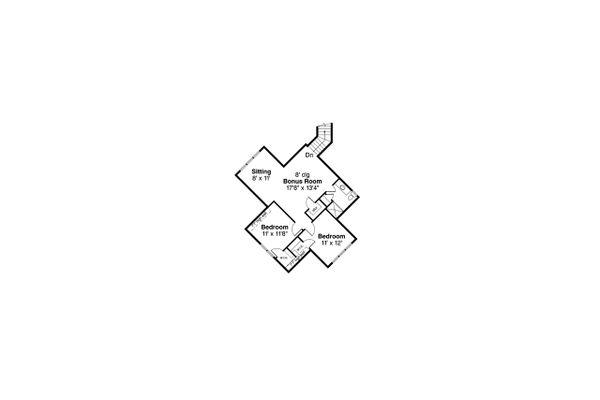 Dream House Plan - Craftsman Floor Plan - Upper Floor Plan #124-1237