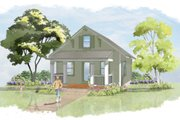 Craftsman Style House Plan - 1 Beds 1 Baths 640 Sq/Ft Plan #515-8 Exterior - Front Elevation