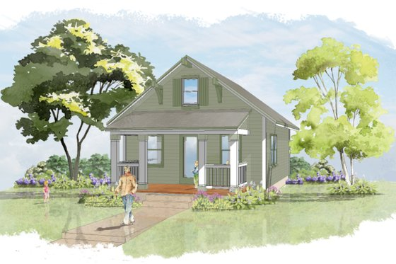 Craftsman Exterior - Front Elevation Plan #515-8
