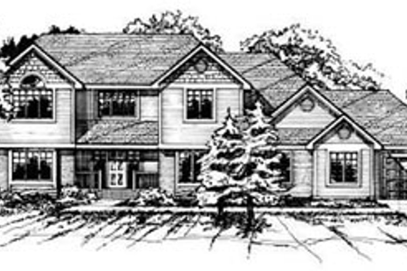 Traditional Exterior - Front Elevation Plan #50-209