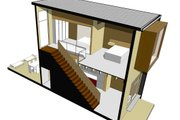 Modern Style House Plan - 2 Beds 1.5 Baths 670 Sq/Ft Plan #469-2 Exterior - Other Elevation