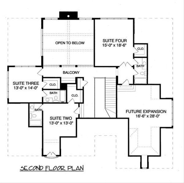 European Floor Plan - Upper Floor Plan #413-800