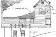 Farmhouse Style House Plan - 3 Beds 2.5 Baths 1830 Sq/Ft Plan #10-217 Exterior - Rear Elevation