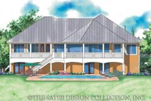 Country Exterior - Rear Elevation Plan #930-173