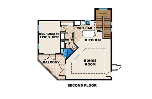Mediterranean Floor Plan - Upper Floor Plan #27-475