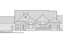 Dream House Plan - Bungalow Exterior - Rear Elevation Plan #70-1006