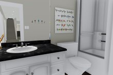 Ranch Interior - Bathroom Plan #1060-2