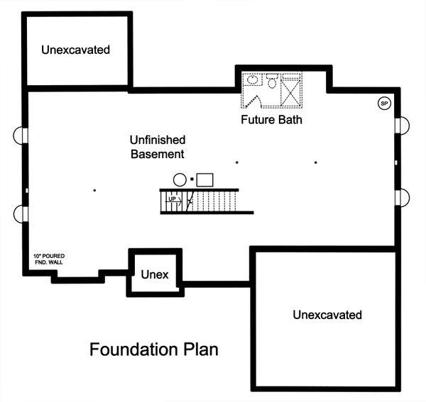 Unfinished Basement Foundation