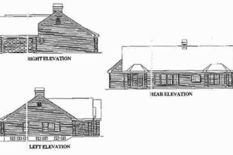 European Exterior - Rear Elevation Plan #57-182 - Houseplans.com