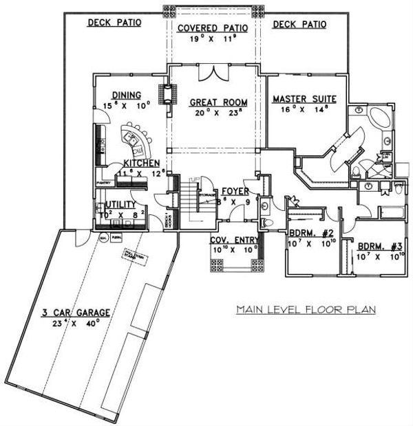Bungalow Floor Plan - Main Floor Plan Plan #117-574