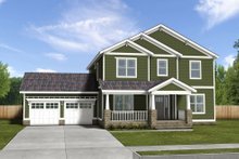 Dream House Plan - energy efficient craftsman four bedroom blueprint