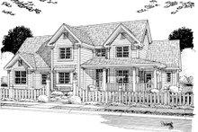 Dream House Plan - Farmhouse Exterior - Other Elevation Plan #513-2046